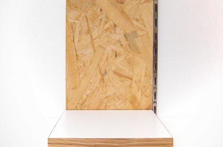 可動収納棚 ポリ合板の棚板 Osbの壁 リノベーション Diy