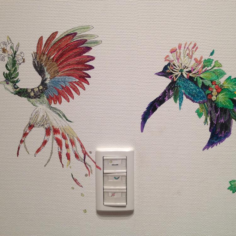 壁画・天井画 2つの小モチーフ 描き易い場所