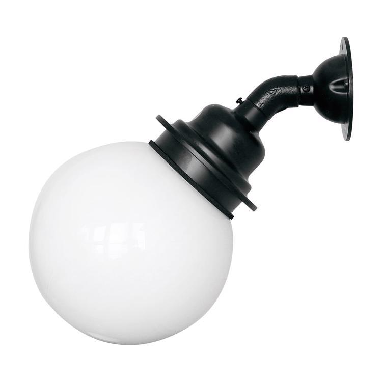 ボールアームライト 乳白×ブラック