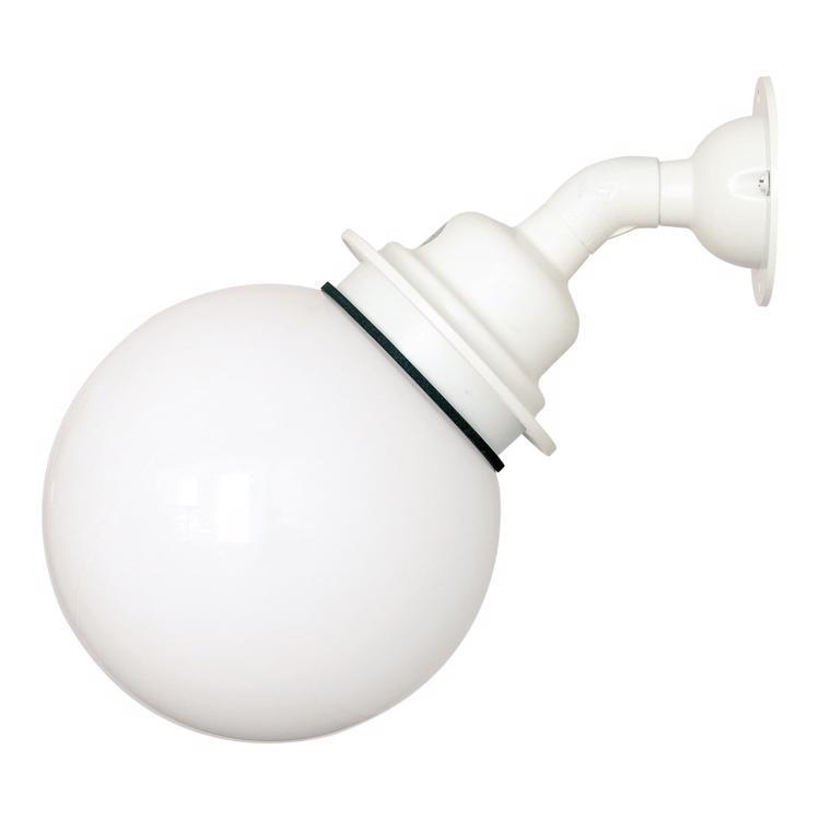 ボールアームライト 乳白×ホワイト