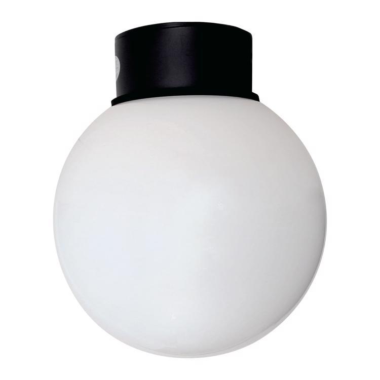 ボールライト 乳白×ブラック