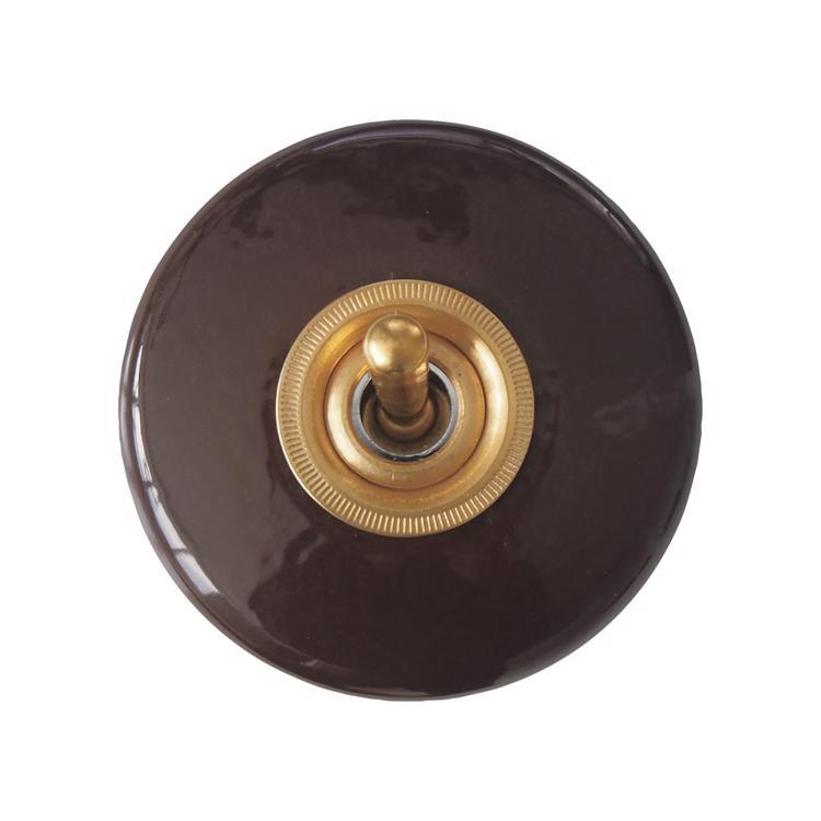 陶器スイッチ ブラウン