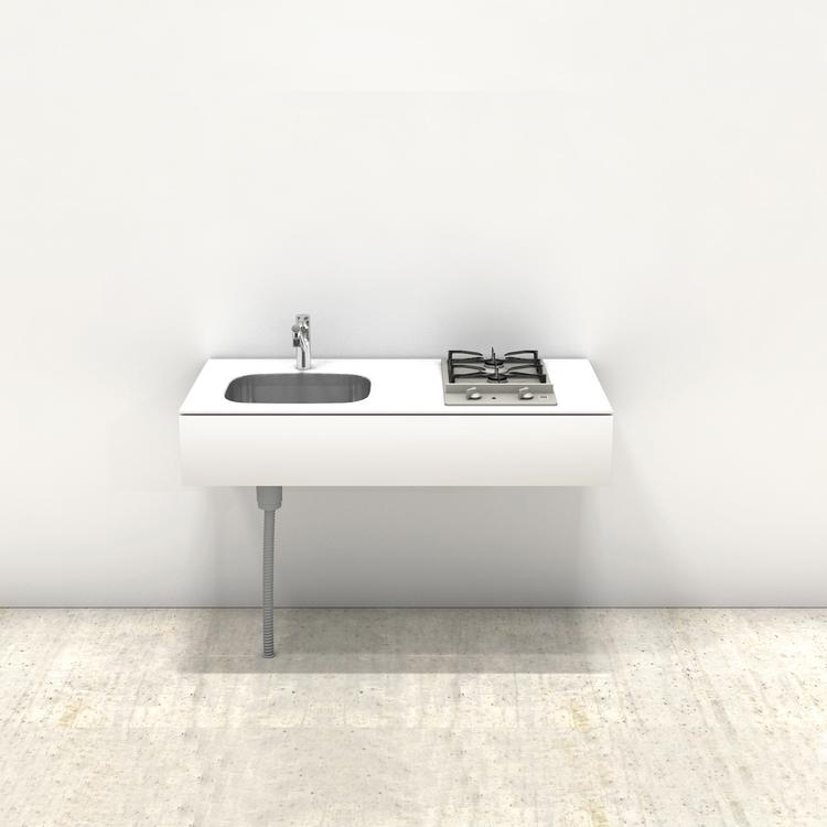 ホワイトミニマルキッチン W1200×D600