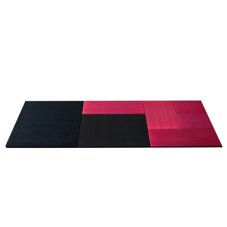 パネル型置き畳 ブラック×ピンク