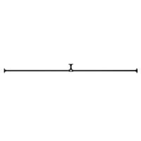 アイアンハンガーパイプ T型-棚下吊タイプ