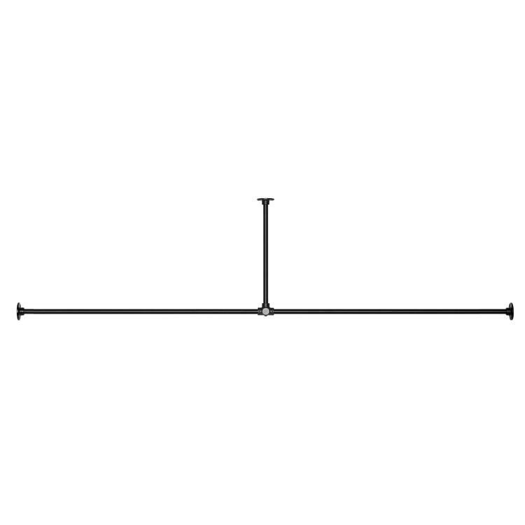 アイアンハンガーパイプ T型-天井吊タイプ