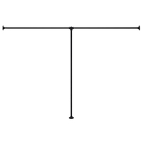 アイアンハンガーパイプ T型-床固定タイプ