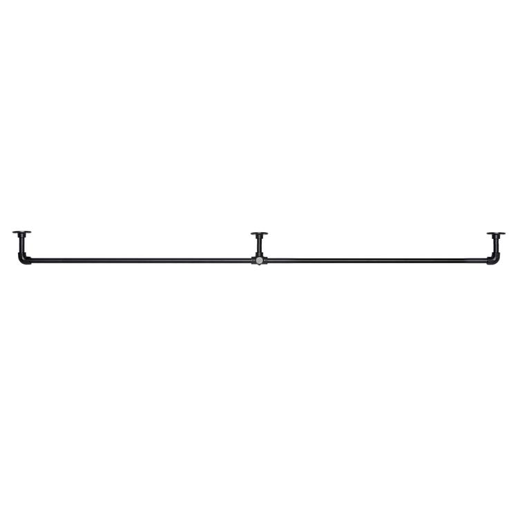 アイアンハンガーパイプ E型-棚下吊タイプ