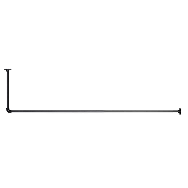 アイアンハンガーパイプ L型-天井吊タイプ