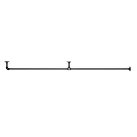 アイアンハンガーパイプ F型-棚下吊タイプ