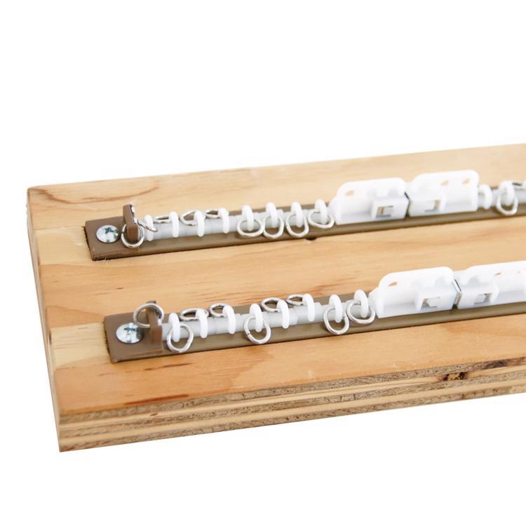 木製カーテンレール ラーチ ダブル