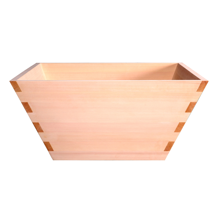 檜浴槽 台形な四角(ひのき)