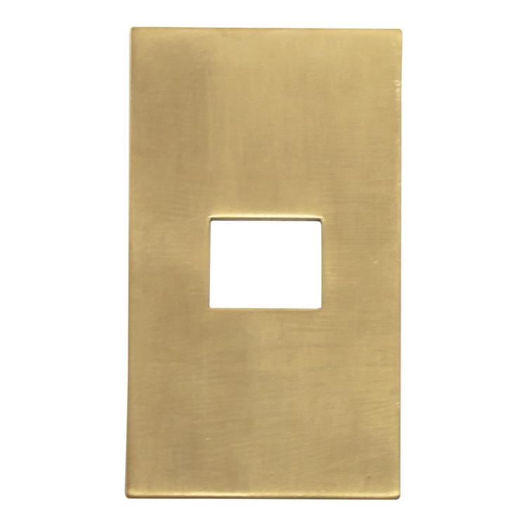 メタルスイッチプレート 真鍮 1口用