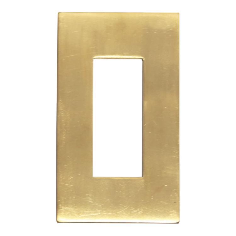 メタルスイッチプレート 真鍮 3口用