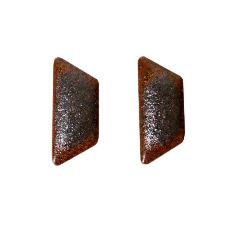 ハニカムタイル 鉄サビ(半マス)