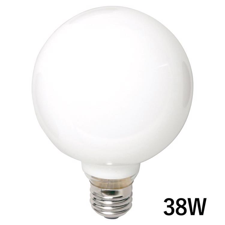 白熱ボール電球 白熱ホワイトボール95(E26)38W