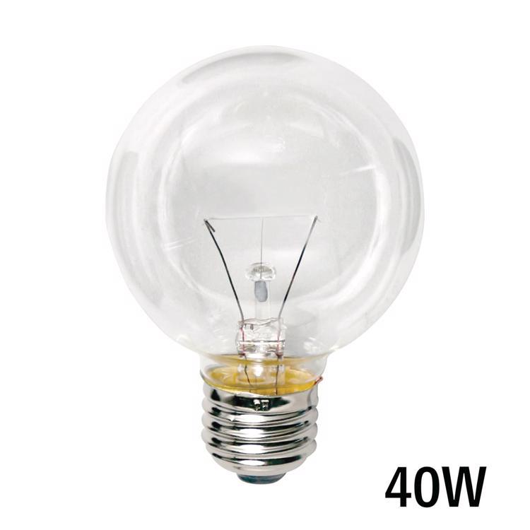 白熱ボール電球 白熱クリアボール70(E26)40W