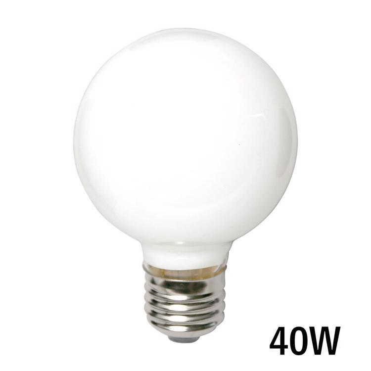 白熱ボール電球 白熱ホワイトボール70(E26)40W