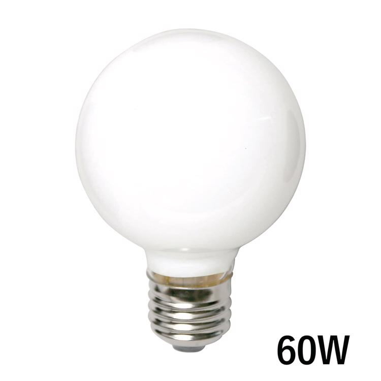 白熱ボール電球 白熱ホワイトボール70(E26)60W