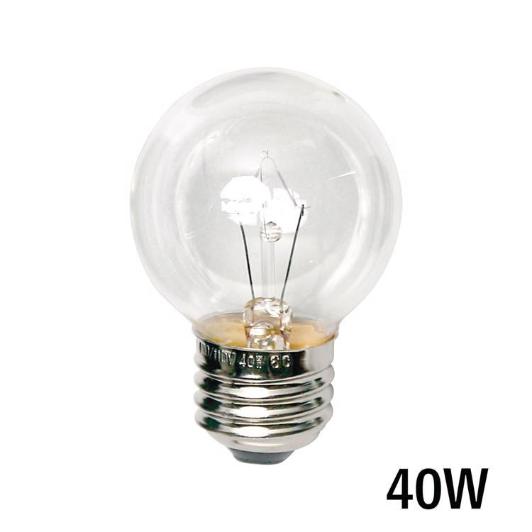 白熱ボール電球 白熱クリアボール50(E26)40W