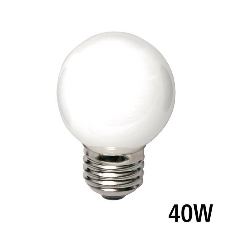 白熱ボール電球 白熱ホワイトボール50(E26)40W