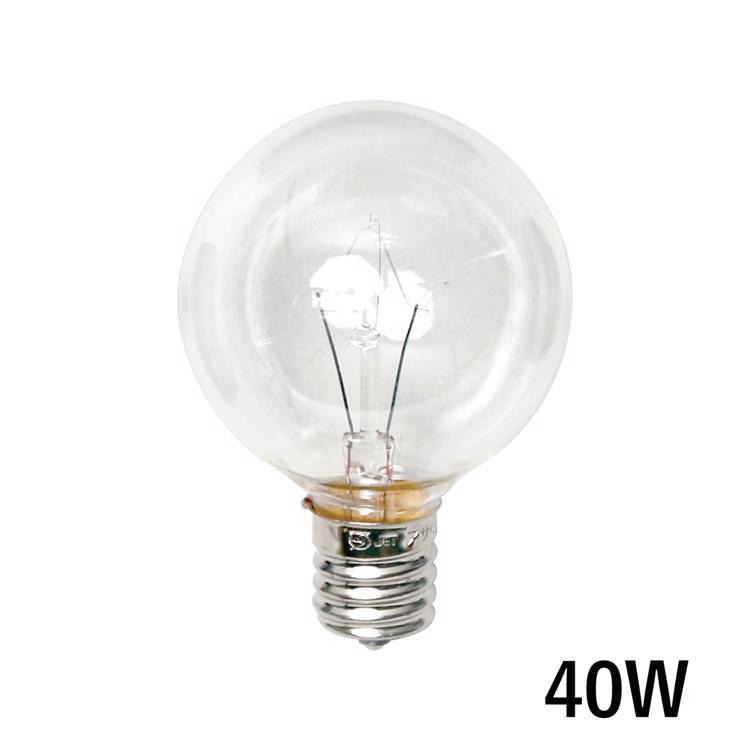 白熱ボール電球 白熱クリアボール50(E17)40W