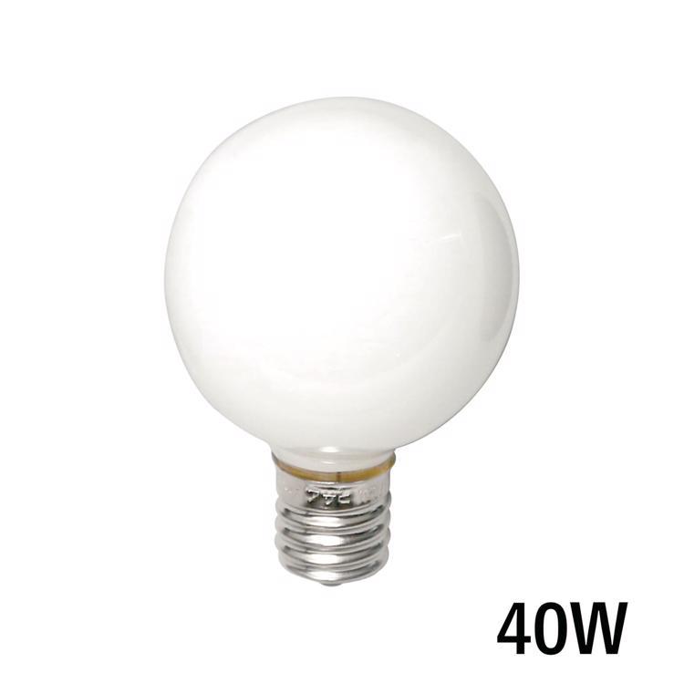 白熱ボール電球 白熱ホワイトボール50(E17)40W