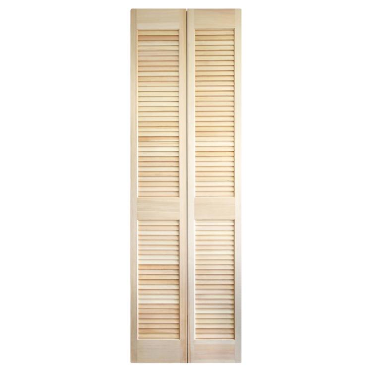 木製パインルーバー折れ戸 片開き 602×2007