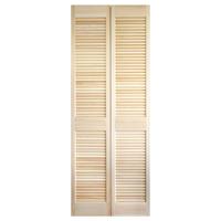 木製パインルーバー折れ戸 片開き 752×2007