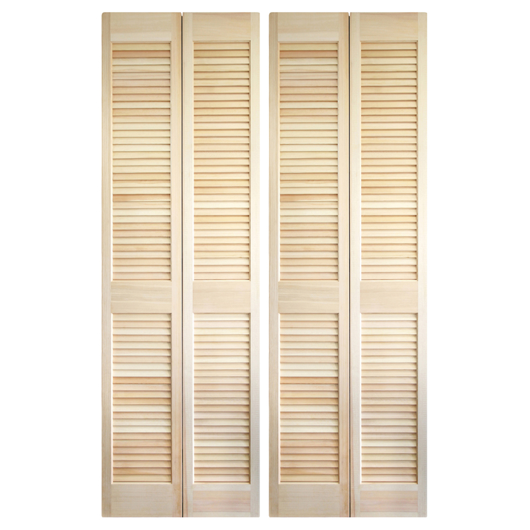 木製パインルーバー折れ戸 両開き 1209×2007