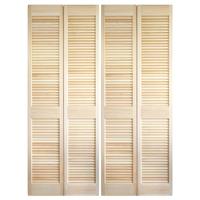 木製パインルーバー折れ戸 両開き 1509×2007