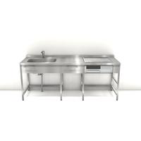 ステンレスフレームキッチン W2100×D650