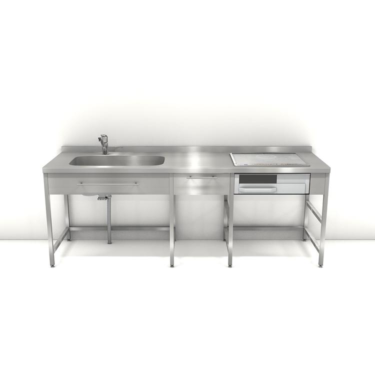 ステンレスフレームキッチン W2250×D650