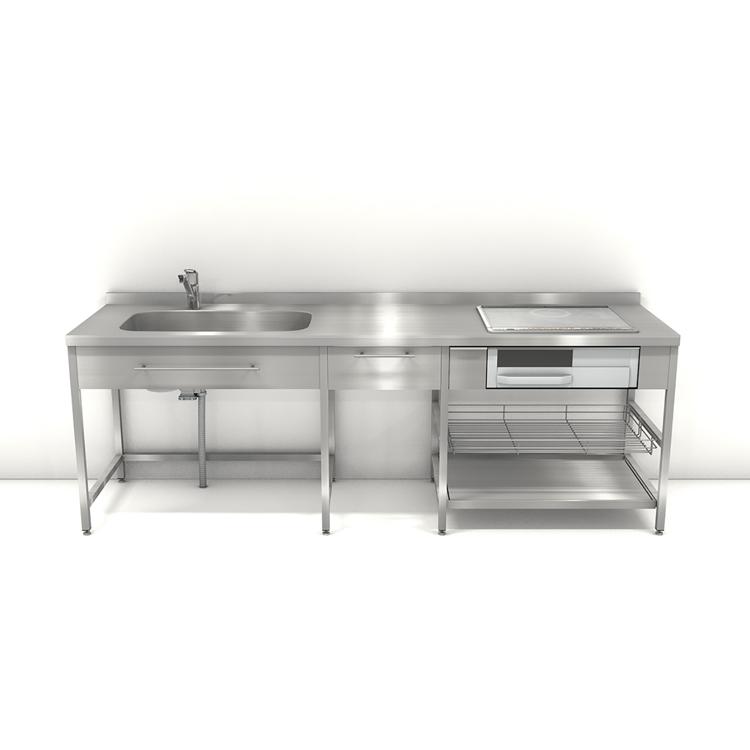 ステンレスフレームキッチン W2400×D650