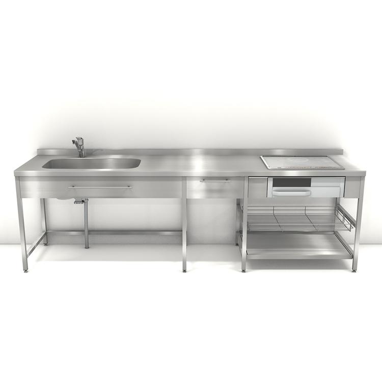 ステンレスフレームキッチン W2700×D650