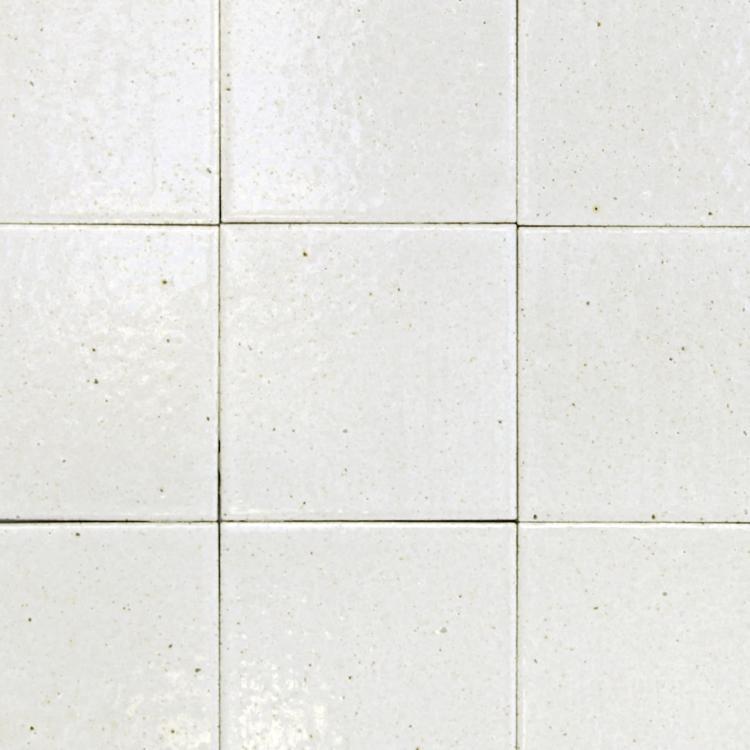 古窯70角タイル パールホワイト(ケース)