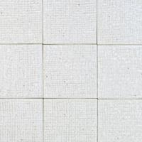 古窯70角タイル パールホワイト(布目)(ケース)