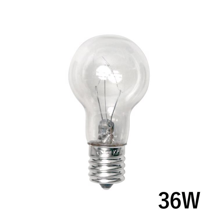 白熱ボール電球 白熱クリアクリプトン35(E17)36W