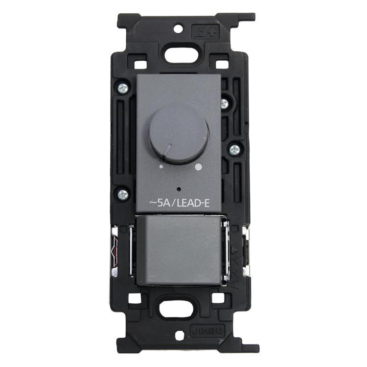 メタルスイッチプレート 調光器&片切/3路対応 (GY)