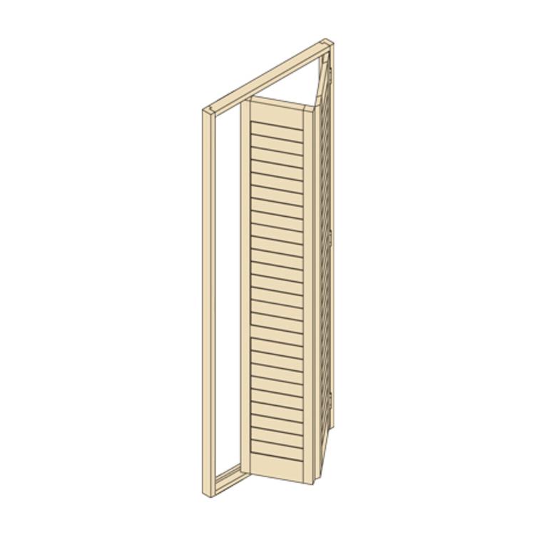 ウッドシャッター 折れ戸タイプ(片開き)