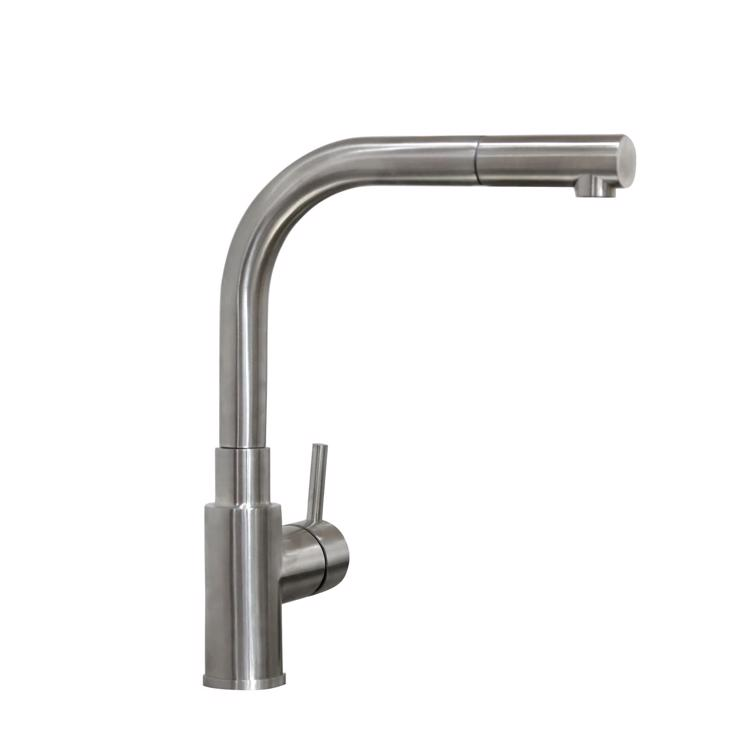 ハンドホース水栓 キッチン用アングル混合栓 ステンレス