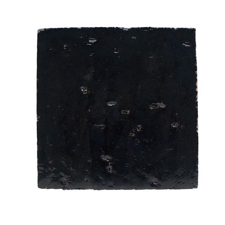 ラスティックタイル プレーン ブラック