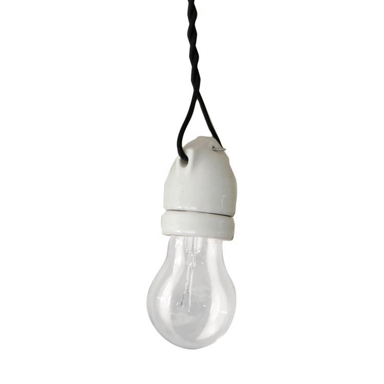 裸電球照明 ブラック