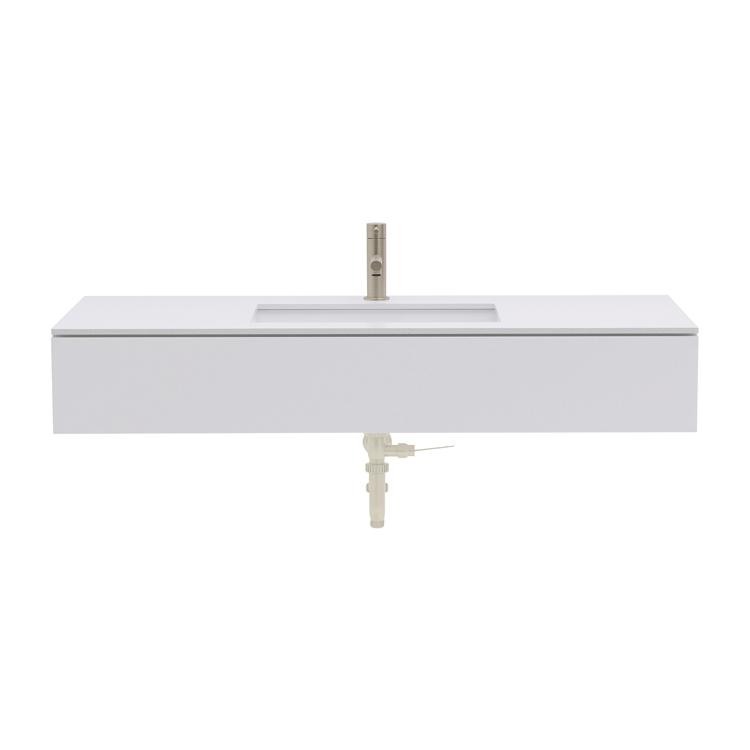 ミニマル洗面台 ホワイト W1000~1200