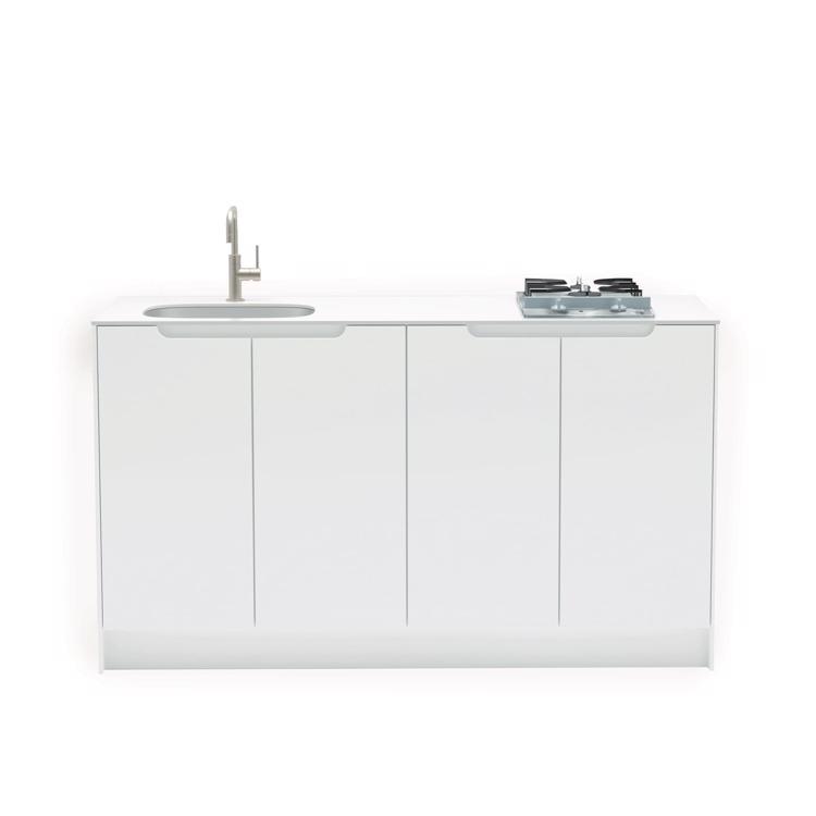 キャビネットキッチン ホワイト W1500