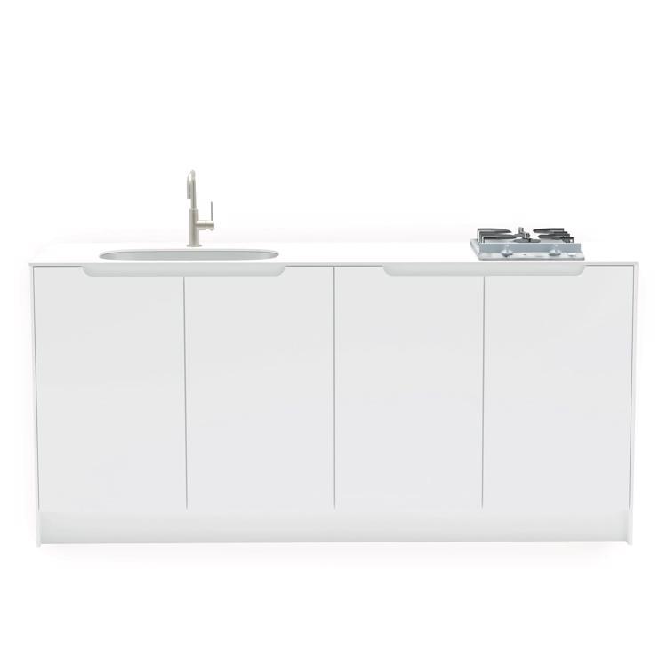 キャビネットキッチン ホワイト W1800