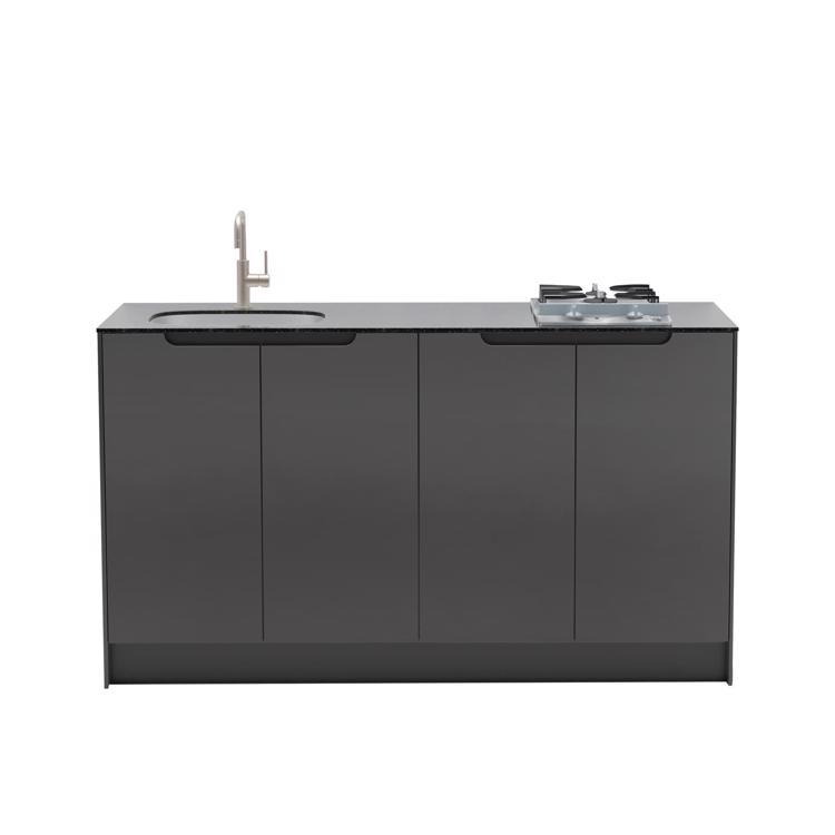 キャビネットキッチン ダークグレー W1500