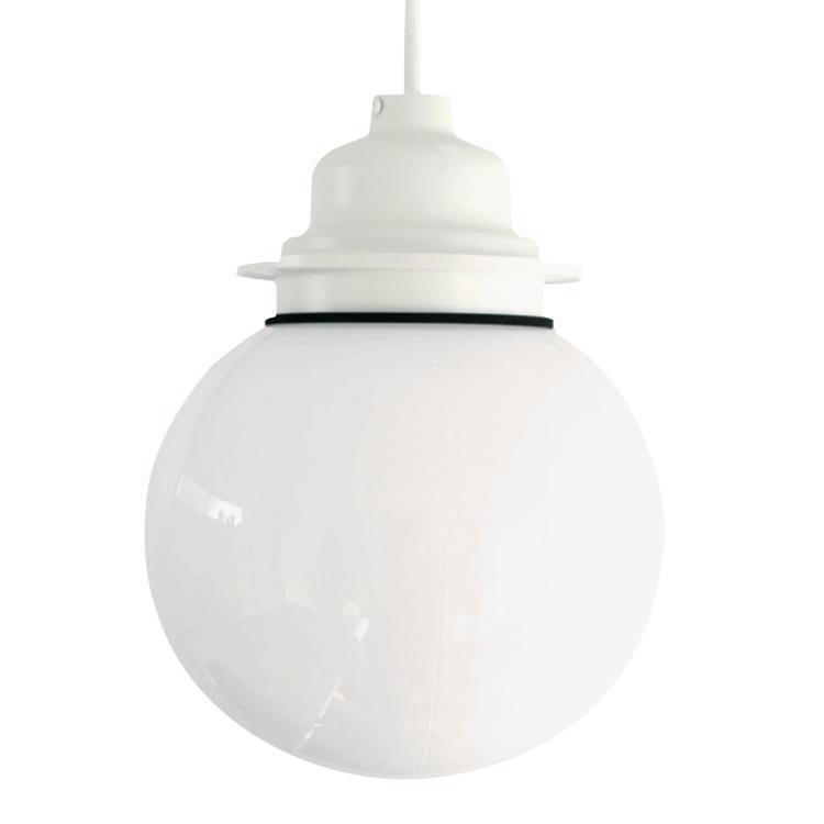 ガラスボール照明 乳白×ホワイト