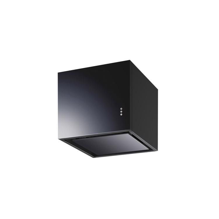 キューブ型レンジフード 照明なし W450×H400 ブラック