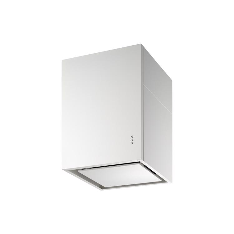 キューブ型レンジフード 照明なし W450×H600 ホワイト